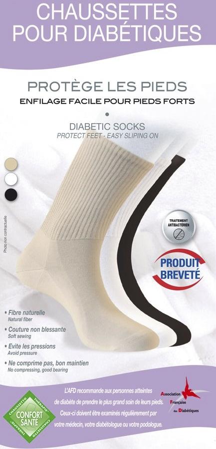 Chaussettes pour diabétique Sensi'Activ