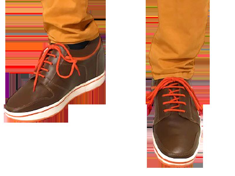 Chaussures orthopédiques avec lacets orange