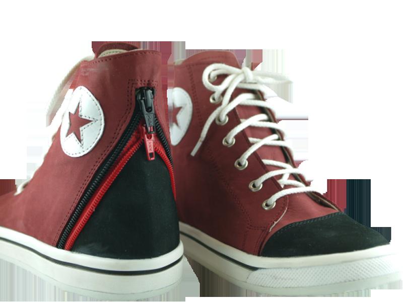 Chaussures orthopédiques pour enfant rouge et noir