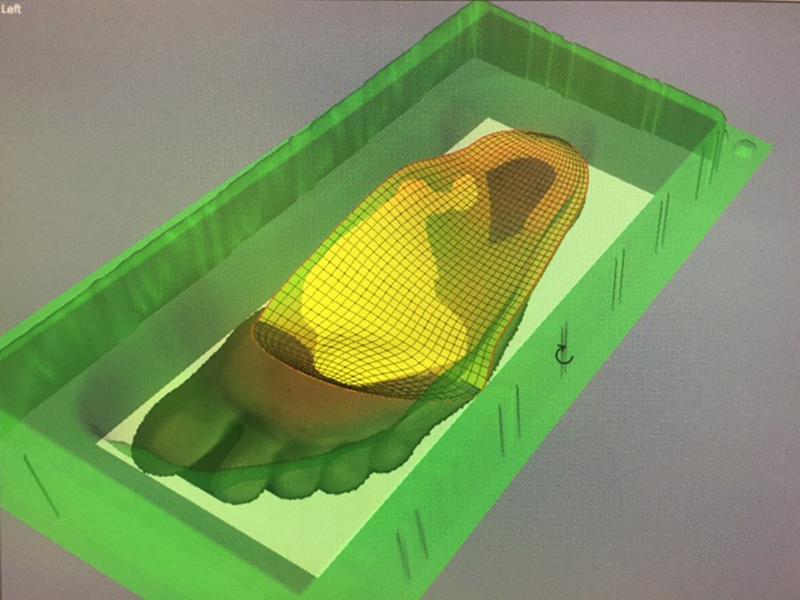Conception numérique semelle thermo adaptée 3D